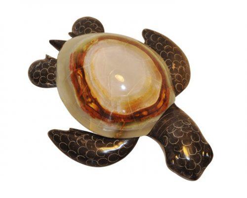 """Marble Turtle Large 6.5"""""""